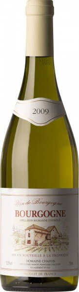 Вино Domaine Chapuis, Bourgogne Blanc AOC 2009