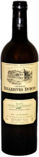 """Вино """"Chateau Bellerives Dubois"""" Blanc, Cotes de Bordeaux AOC, 2012"""
